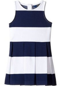 "POLO RALPH LAUREN - Vestido Striped Stretch Jersey ""Navy"" (Infantil)"