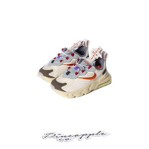 "NIKE x TRAVIS SCOTT - Air Max 270 React ""Cactus Trails"" (Infantil) (TD) -NOVO-"