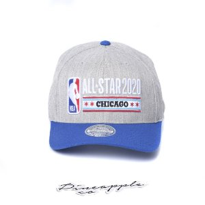 "MITCHELL & NESS - Boné NBA All Star 2020 Chicago ""Cinza/Azul"" -NOVO-"