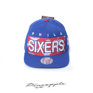 "MITCHELL & NESS - Boné Warm Up Phila Sixers Snapback ""Blue/Red"""