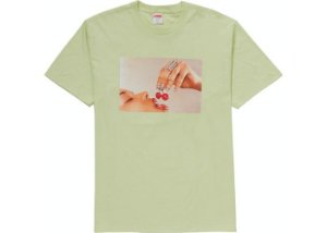 "SUPREME - Camiseta Cherries ""Menta"" -NOVO-"