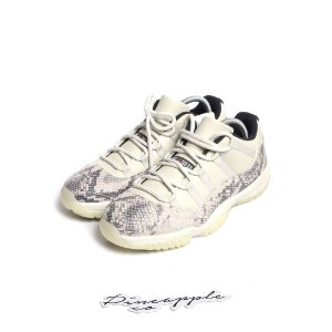 "NIKE - Air Jordan 11 Retro Low Snakeskin ""Light Bone"" -NOVO-"