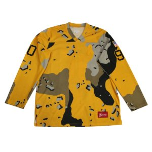 "SUPREME - Camisa Manga Longa Hockey Top Desert Camo ""Amarelo"" -USADO-"