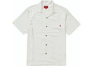 """SUPREME x PLAYBOY - Camisa Rayon """"Branco"""" -NOVO-"""