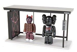 "KAWS x MEDICOM TOY - Bus Stop Series Vol 1 Vinyl Toy ""Black/Red"""