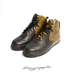 "NIKE x PIGALLE - Air Force 1 High ""Black/Gold"" -USADO-"