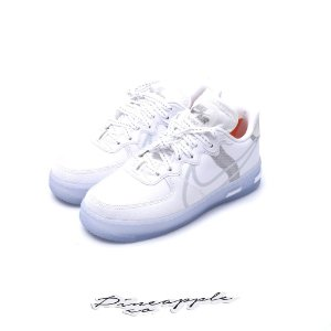 "NIKE - Air Force 1 React ""White/Light Bone"" -NOVO-"