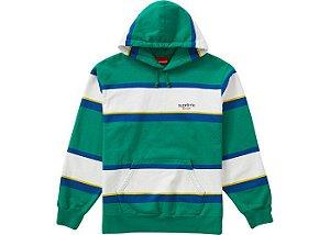 "SUPREME - Moletom Stripe Sweatshirt ""Verde"" -NOVO-"
