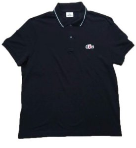"LACOSTE - Camisa Polo Regular Fit France ""Azul Marinho"" -NOVO-"