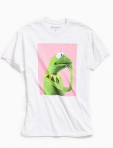 "DISNEY - Camiseta The Muppets: Kermit ""Branco"" -NOVO-"