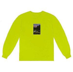"TRAVIS SCOTT - Camiseta Manga Longa Jackboys Photo II ""Verde Neon"" -NOVO-"