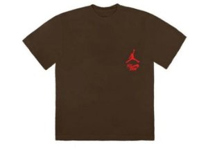 "TRAVIS SCOTT - Camiseta Jordan Cactus Jack Highest ""Marrom"" -NOVO-"