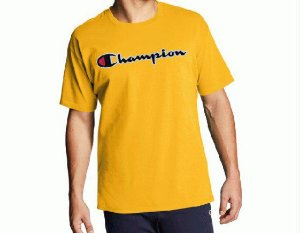 "CHAMPION - Camiseta Patch Logo ""Amarelo"" -NOVO-"