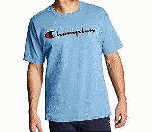 "CHAMPION - Camiseta Patch Logo ""Azul"" -NOVO-"