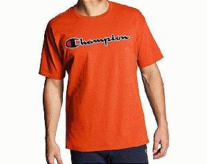 """CHAMPION - Camiseta Patch Logo """"Vermelho"""" -NOVO-"""