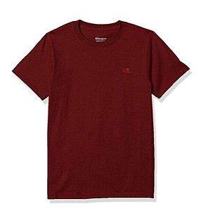 "CHAMPION - Camiseta Classic Jersey ""Bordô"" -NOVO-"