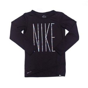 "NIKE - Camiseta Manga Longa Irisdecent ""Preto"" (Infantil) -NOVO-"