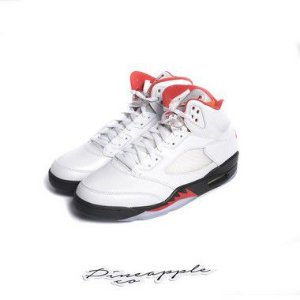 "!NIKE - Air Jordan 5 Retro ""Fire Red"" ( 39,5 BR / 8 US) -NOVO-"