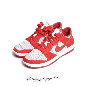 "NIKE - Dunk Low Flyknit ""University Red/Wolf Grey"" -NOVO-"