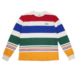 "PALACE - Camiseta Manga Longa Henvy Stripe ""Multicolor"" -USADO-"