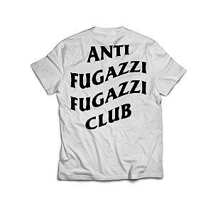 """ANTI FUGAZZI FUGAZZI CLUB - Camiseta Logo 2 """"Branco"""" -NOVO-"""