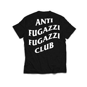 "PRÉ-VENDA: ANTI FUGAZZI FUGAZZI CLUB - Camiseta Logo 2 ""Preto"" -NOVO-"