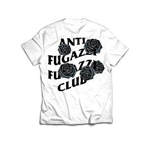"""ANTI FUGAZZI FUGAZZI CLUB - Camiseta Bat Emoji """"Branco"""" -NOVO-"""