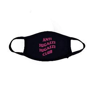 "PRÉ-VENDA: ANTI FUGAZZI FUGAZZI CLUB - Máscara Logo 2 ""Preto/Rosa"" -NOVO-"