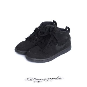 "NIKE - Air Jordan 1 Mid ""Triple Black"" (Infantil) -USADO-"