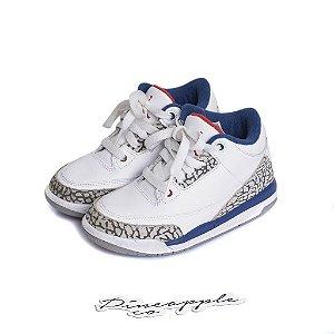 """NIKE - Air Jordan 3 Retro """"True Blue"""" (Infantil) -USADO-"""