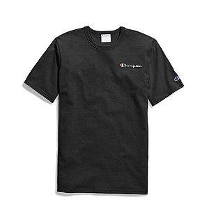 "CHAMPION - Camiseta Applique Logo ""Preto"" -NOVO-"