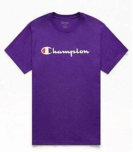 "CHAMPION - Camiseta Logo Script ""Roxo"" -NOVO-"