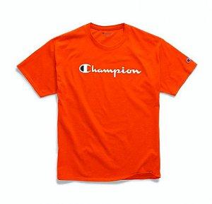 "CHAMPION - Camiseta Logo Script ""Laranja"" -NOVO-"