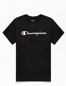 "CHAMPION - Camiseta Logo Script ""Preto"" -NOVO-"