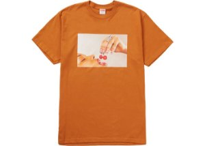 "SUPREME - Camiseta Cherries ""Laranja"" -NOVO-"
