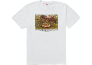 "SUPREME - Camiseta Masterpieces ""Branco"" -NOVO-"