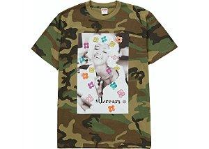 """SUPREME - Camiseta Naomi """"Camo"""" -NOVO-"""