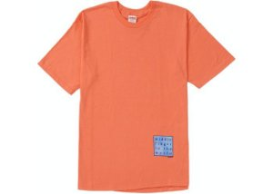 "SUPREME - Camiseta Middle Finger To The World ""Coral"" -NOVO-"