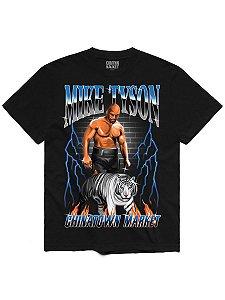 """CHINATOWN MARKET x MIKE TYSON - Camiseta Tiger """"Preto"""" -NOVO-"""