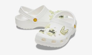 "CROCS x BAD BUNNY - Chinelo Classic Clog ""Glow In The Dark"" -NOVO-"