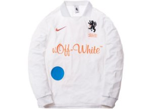 "NIKE x OFF-WHITE - Camiseta Manga Longa Mercurial NRG x FB Jersey ""Branco"" -USADO-"