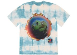 "TRAVIS SCOTT - Camiseta The Scotts World Tie Dye ""Azul"" -NOVO-"