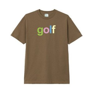 "GOLF WANG - Camiseta Neapolitan ""Marrom"" -NOVO-"