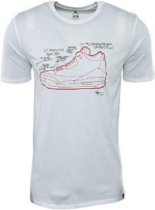 "NIKE - Camiseta Jordan 3 Retro Sketch ""Branco"" -NOVO-"