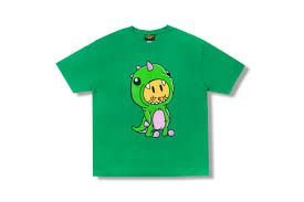 "DREW HOUSE - Camiseta Dino ""Verde"" -NOVO-"
