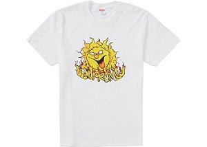 "SUPREME - Camiseta Sun ""Branco"" -NOVO-"