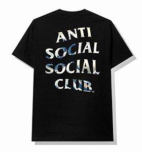"""ANTI SOCIAL SOCIAL CLUB - Camiseta Tonkotsu Wave """"Preto"""" -NOVO-"""