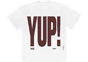 """TRAVIS SCOTT - Camiseta Franchise Yup! """"Branco"""" -NOVO-"""