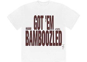 "TRAVIS SCOTT - Camiseta Franchise Bamboozled ""Branco"" -NOVO-"