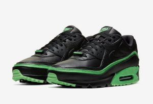 "NIKE x UNDEFEATED - Air Max 90 ""Black/Green Spark"" -NOVO-"